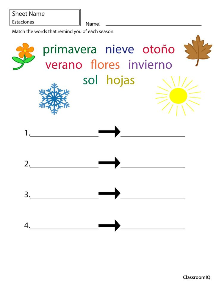 95 best images about WeatherEl tiempo Seasons Las Estaciones – Spanish Weather Worksheets