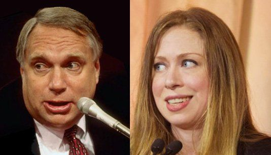 "It has long been rumored that Webb Hubbell is the biological father of Chelsea Clinton. Apparently even Slick Willie, himself, admitted that he ""shoots blanks"" and that Webb is Chelsea's real pappy."
