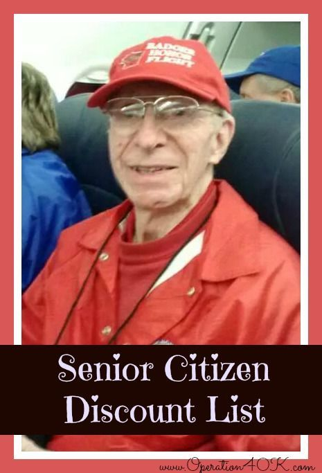 senior citizen discount list                                                                                                                                                                                 More