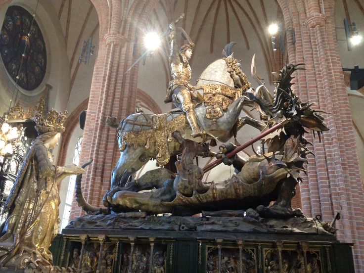 St George and the dragon, Storkyrkan in Stockholm