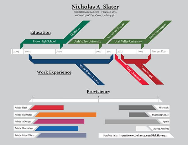 nicholas slater infographic resume graphic design