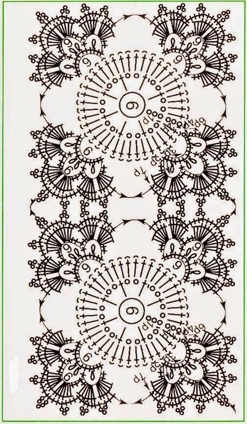 Crocheted motif no. 710