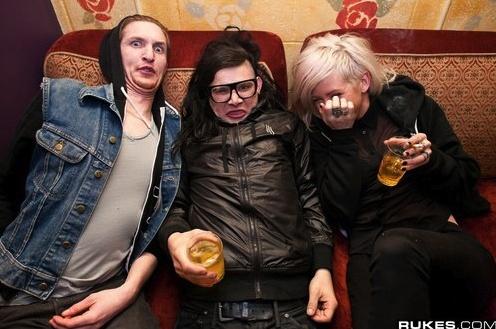Rusko, Skrillex, and Ellie Goulding. hahah