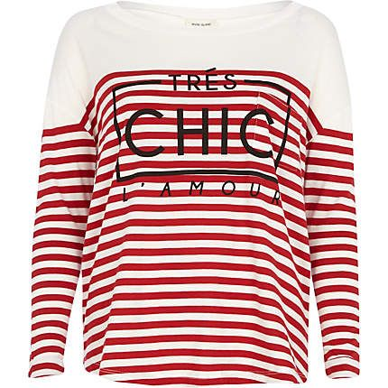 Red stripe tres chic l'amour t-shirt £20.00