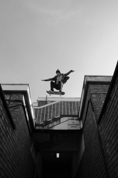 Skater / Black and White Photography