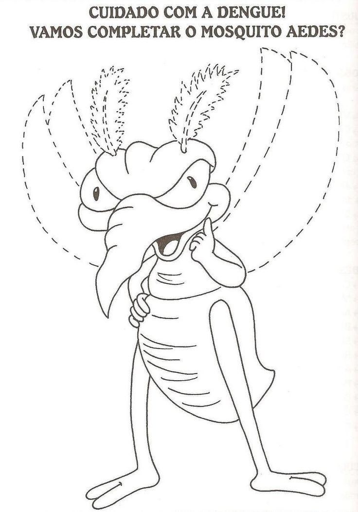 Ensinando com Carinho: Desenhos da dengue para imprimir e colorir