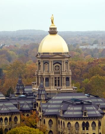 """Notre Dame in autumn. Like the Irish? Be sure to check out and """"LIKE"""" my Facebook Page https://www.facebook.com/HereComestheIrish"""