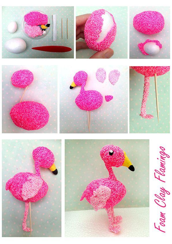 Flamingo Lama Bastelideen Fur Foam Clay Hama Bugelperlen