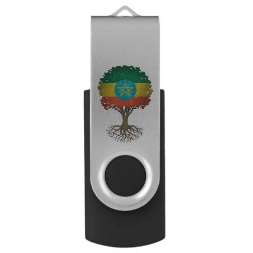 Ethiopian Flag Tree of Life Customizable Flash Drive