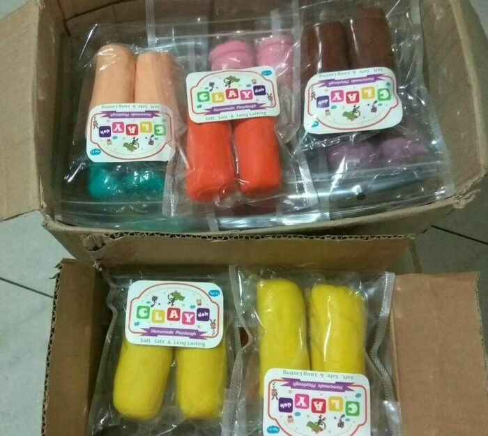 Claydoh...homemade playdough....soft,safe&long lasting