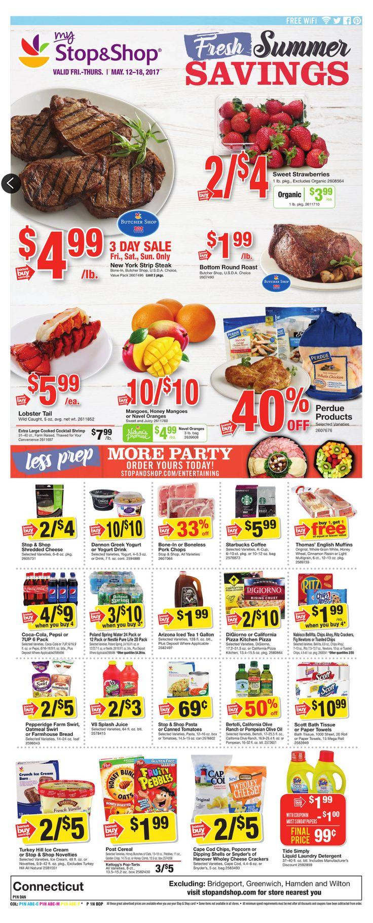 Stop and Shop Circular May 12 - 18, 2017 - http://www.olcatalog.com/grocery/stop-and-shop-circular.html