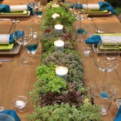 Sedum, Design Ideas, outdoor, dining table, built in planter,