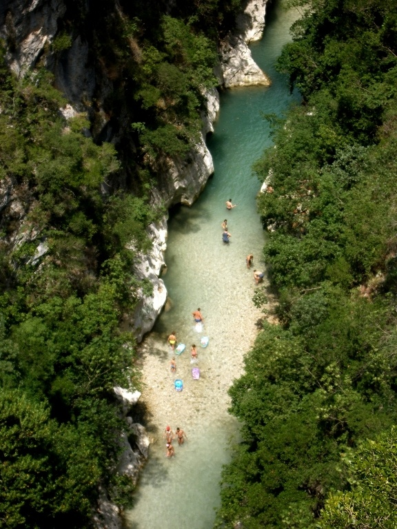 "Acherontas river, the mythical river of Epirus. The legendary name of the spot is ""The Gate to the Underworld"""