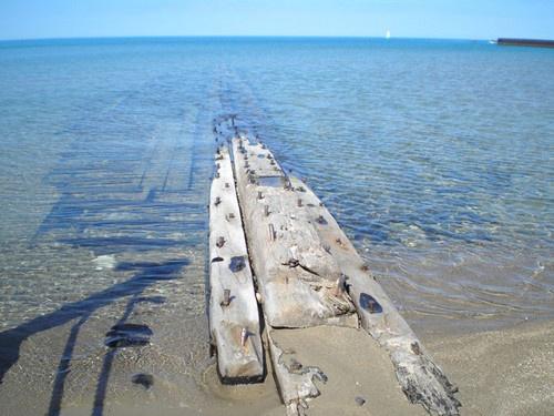 Wreck of the Ann Maria at Kincardine Station Beach