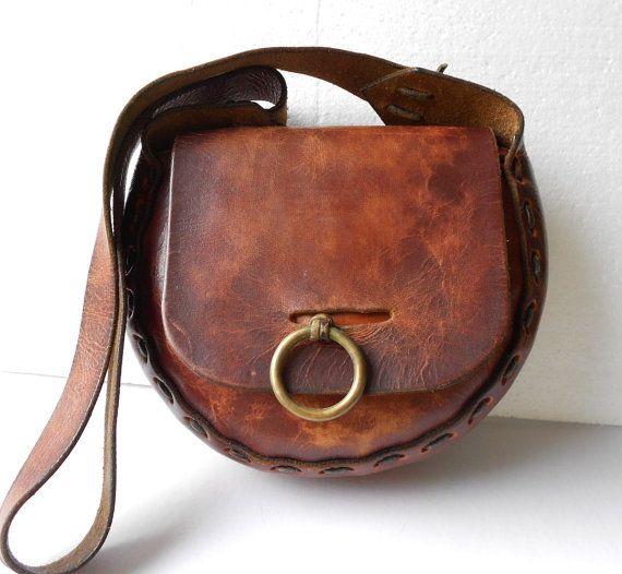 Vintage BOHO Purse Genuine BOHO Leather Purse by somelikevintage