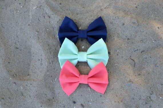 Beach House Bows by Sophster-Toaster #navy #mint #coral