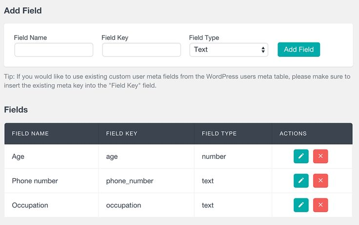 The Custom Fields feature of Users Insights allows you to extend the default WordPress user options. It provides a seamless interface to register custom fields and update the fields data for each user.