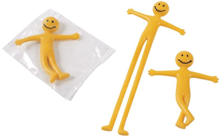 Stretchy Happy Men - brilliant fun and a perfect end of term gift or party bag present. 12 per pack