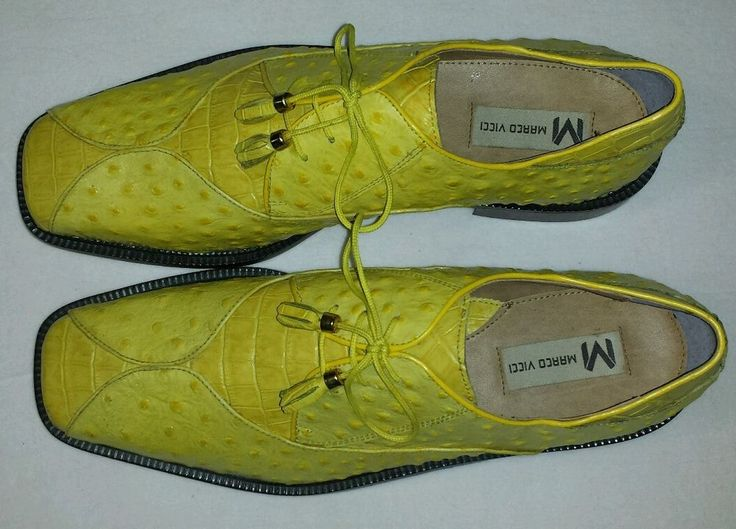 Mens Yellow Marco Vicci Dress Shoes size 13 | Accessories ...