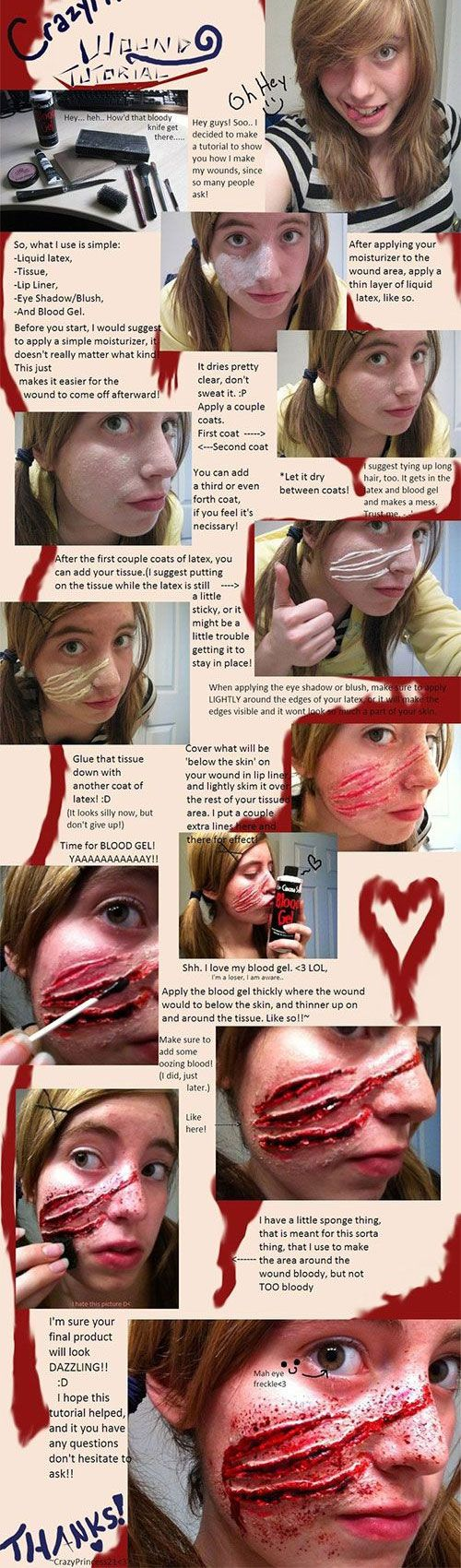 So, if you look at Halloween as the ultimate day of gore, horror and scaring your friends, look no further than the following makeup hacks that are so gross, SO disgusting that you'll have your BFFs gagging in no time. But don't worry — you'll be the one LOLing on the inside 'cause everything's totally fake!