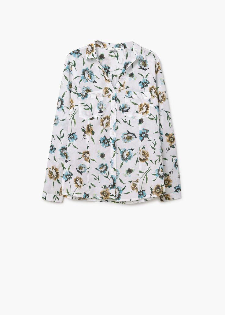 L2017 Bawełniana koszula ze wzorem | MANGO