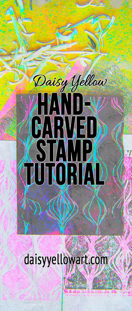 In this tutorial, a nudge to hand-carve a few stamps, to make a little  design or pattern and turn it into a repeat. These miniature handmade  mark-making devices add a unique twist, a bit of YOU,on your journal  pages. [Updated from March 2015]      Create repeatable imagery in your own unique style.  This is an introduction to eraser and linoleum stamp carving, including a  video tutorial,ideas & inspiration.Add some hand-carved stamps to your  art journal!
