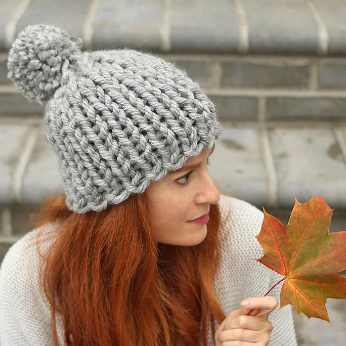 Foggy Day Super Chunky Hat Chunky Knitting Patterns Knitting Patterns Free Hats Beanie Knitting Patterns Free