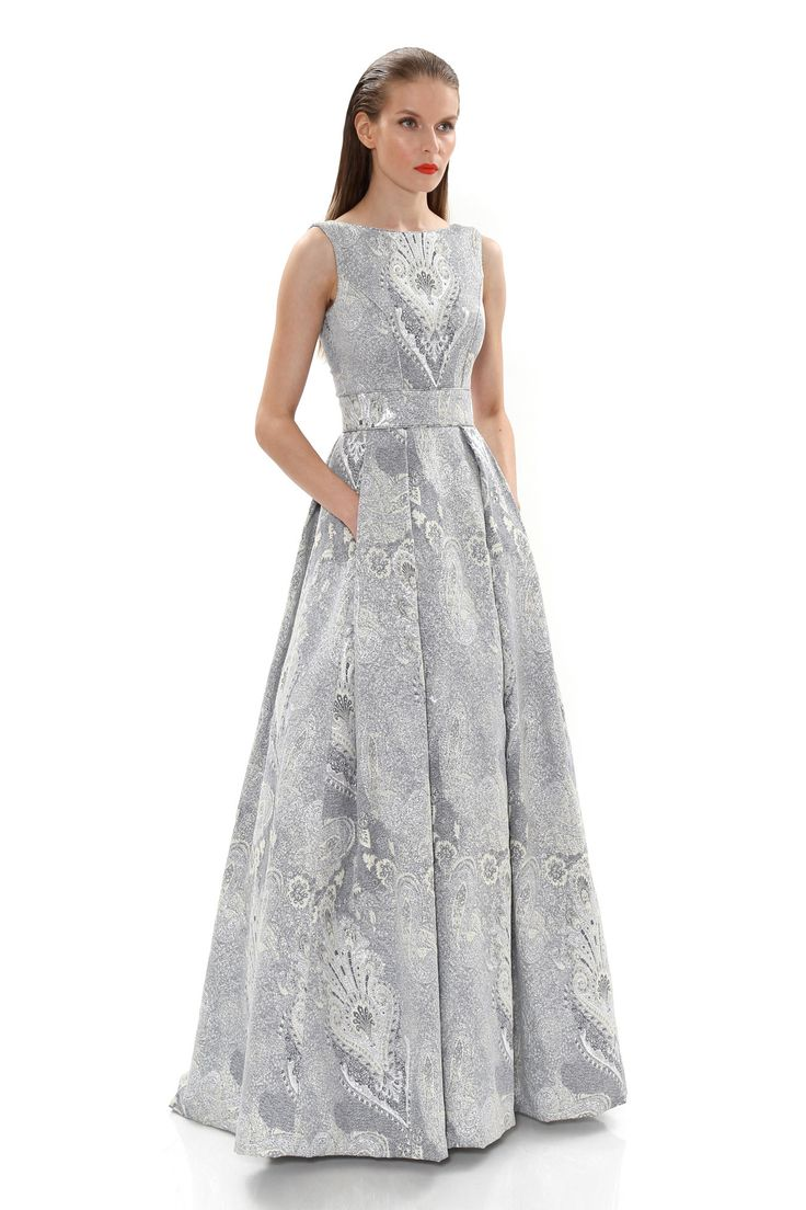 Lo lo lord and taylor party dresses - Metallic Jacquard Ball Gown