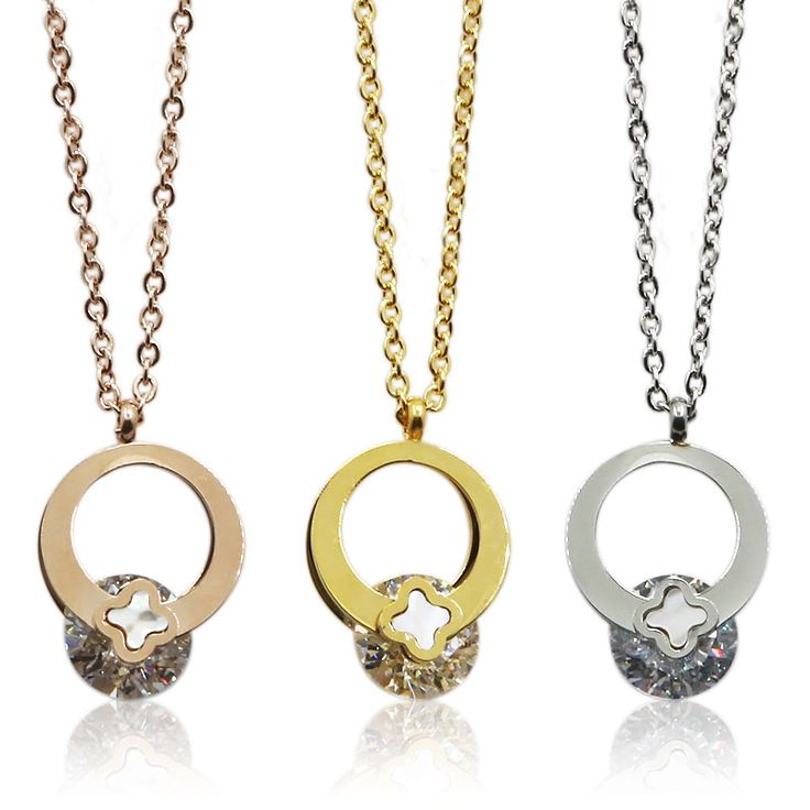 Find More Pendant Necklaces Information about 41cm New Fashion Design CZ Stone and Happiness Clover Women Classic Pendants Necklaces  Gold Plated Romantic Wedding Jewelry,High Quality necklace jewelry making,China necklaces malaysia Suppliers, Cheap jewelry wire from MSX Fashion Jewelry on Aliexpress.com