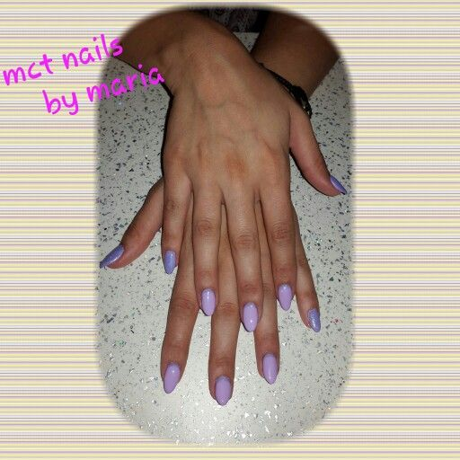 Gel nails with puple gel polish and mermaid effect #nails #nailart #thessaloniki