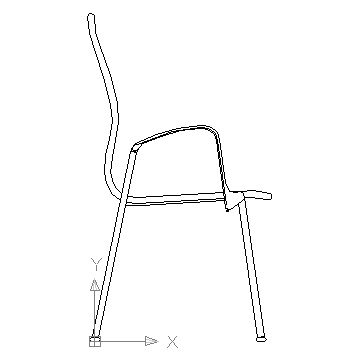 Chair AutoCAD block in side view block in furniture Autocad free ...