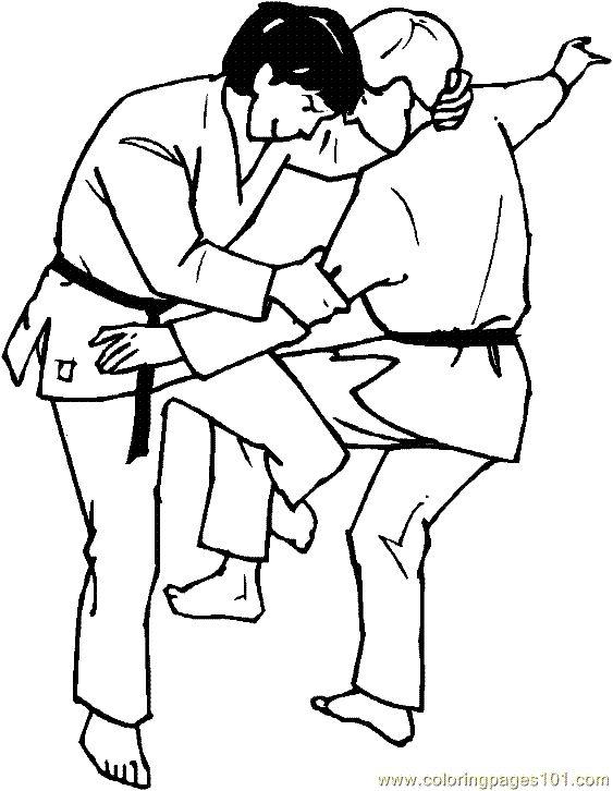 judo karate coloring page