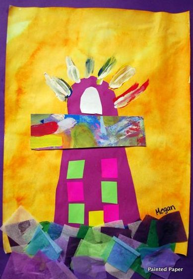 Lighthouses created by Little Hands: PreK+K Sharing <3