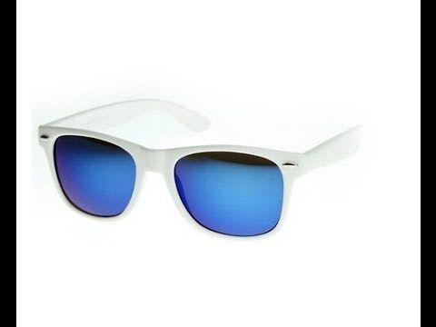 FRAMEWORK Flat Matte Reflective Revo Color Lens Large Wayfarers Style Su...