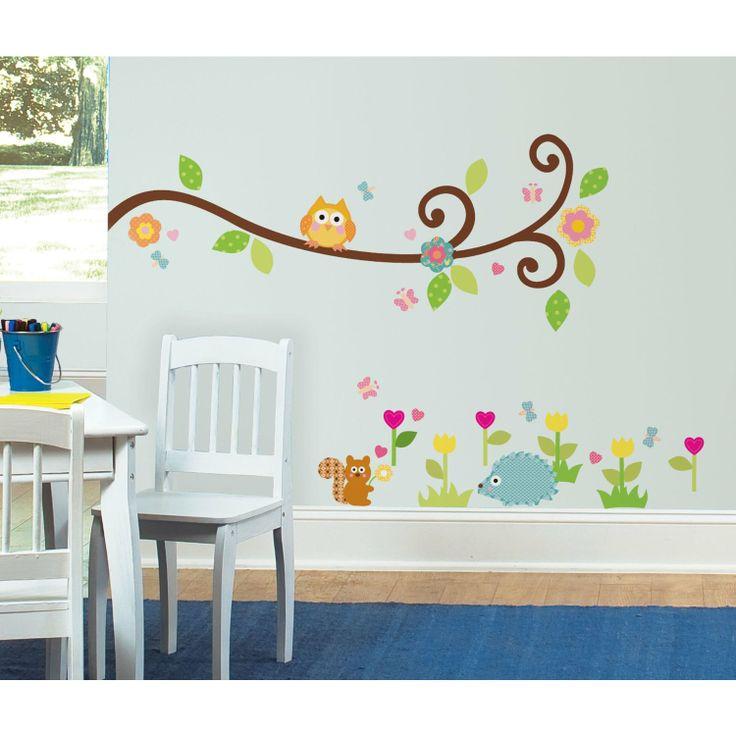 RoomMates - Adesivi da parete riutilizzabili con rami, foglie e fiori: Amazon.it: Prima infanzia