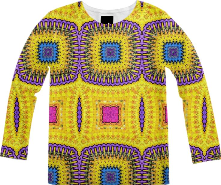 Longe sleeve shirt in ethnic style from Print All Over Me