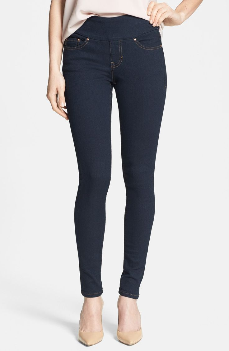 This is my go to jean. I like it because the band is wide at the top and keeps me from having a muffin top. They are Jag Jeans 'Nora' Pull-On Skinny Stretch Jeans (After Midnight). I already own them.