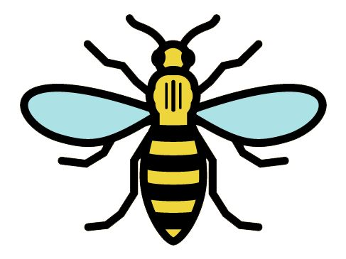 Bee Of Manchester Logo The Manchester Bee Bee Tattoo