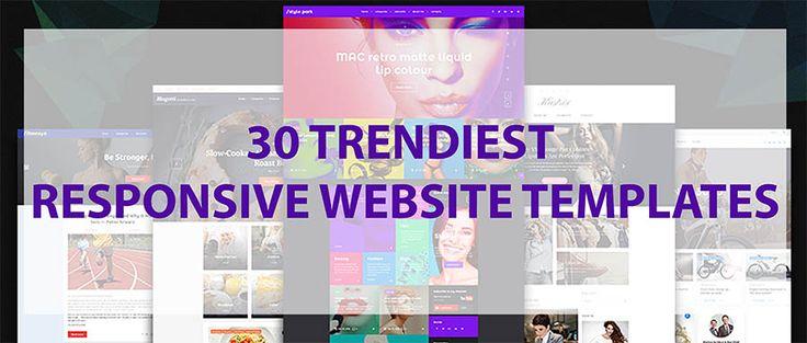 30 Trendiest Responsive Website Templates, May 2017  https://www.templates.com/blog/30-trendiest-responsive-website-templates-may-2017/