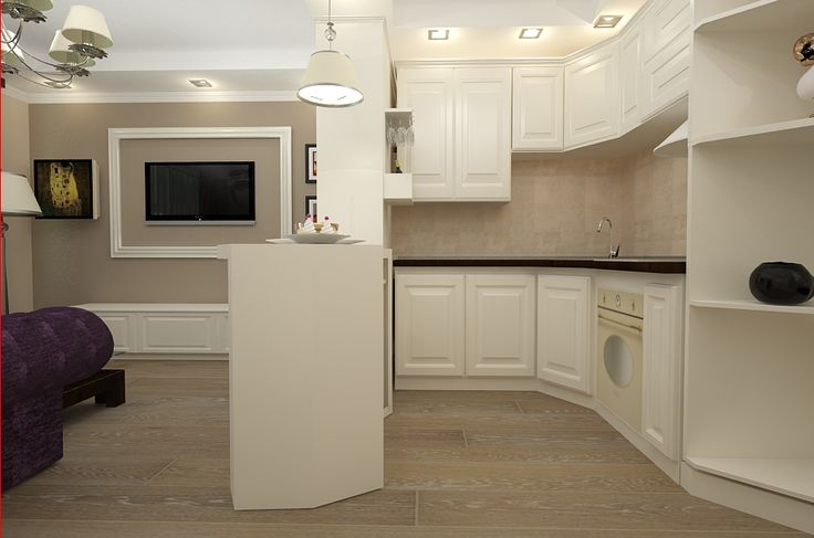 Design interior bucatarie clasica apartament Constanta cu doua camere.