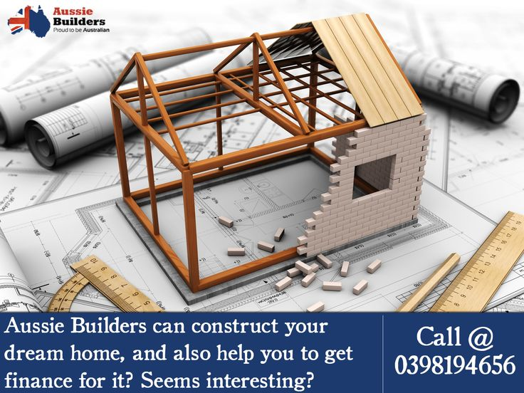 Ever heard of #homebuilder who can construct your dream home, and along with it help you to get #finance? Call Aussie Builders @ 0398194656