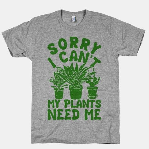 This shirt is a perfect gift for gardeners and indoor plant enthusiasts. A great gift for your introverted green thumb friend.   Free Shipping on U.S. orders over $50.00.