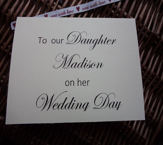 Personalised wedding card to our Daughter by WendysWeddingCorner