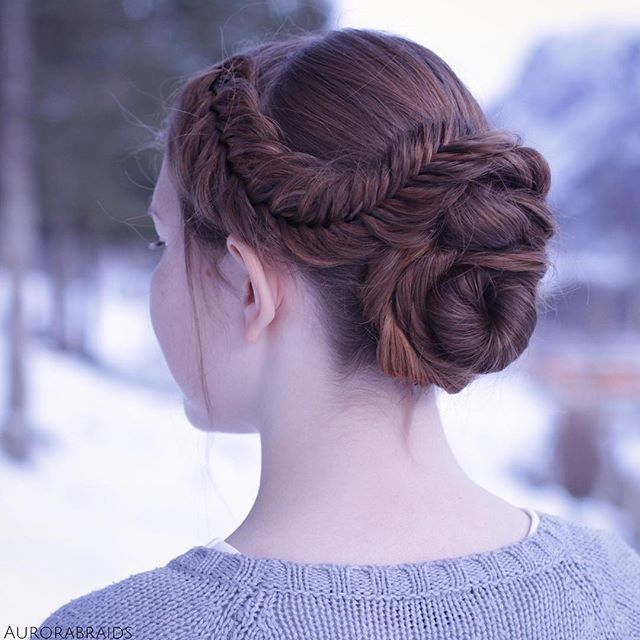 Dutch fishtail updo. This is one of many hairstyles that you can find a tutorial for in @missysueb...