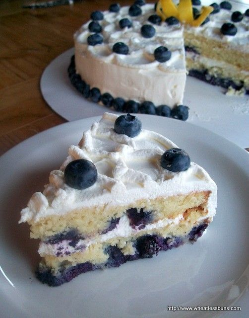 Lemon Blueberry Cake   Gluten Free, Low Carb   Wheatless Buns
