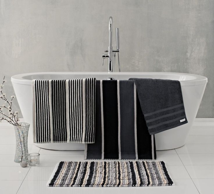 monochrome next towels and bathmats black and white bathroom