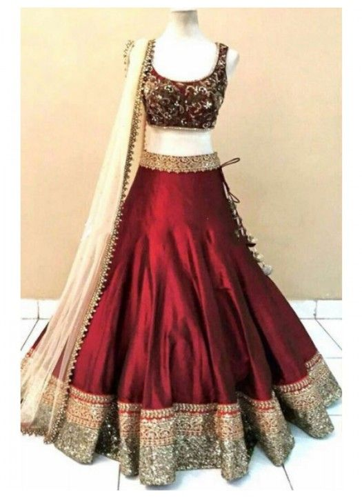 Indian Gold & Red Lehenga Choli | Modern Design | Stunning