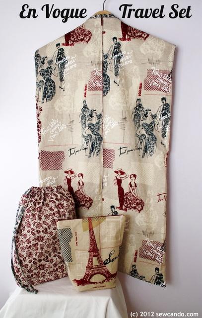 En Vogue Travel Set tutorial by Sew Can Do. Make a garment