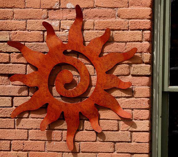Metal Art Sun Wall Hanging, 36 Inch Size, Garden Wall Art