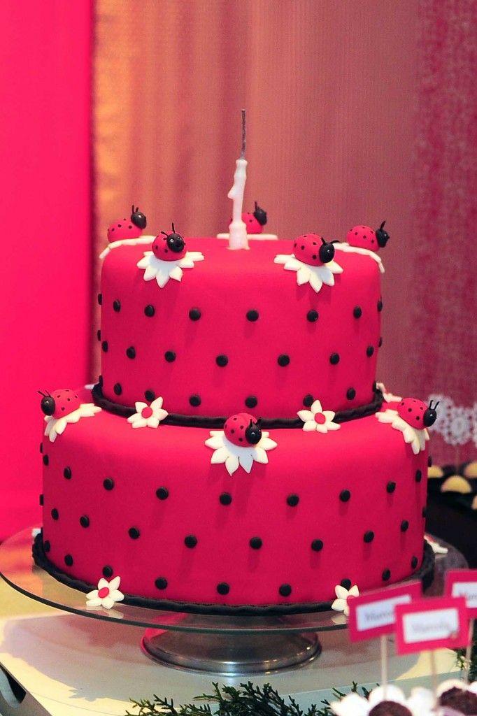 bolo joaninha branco - Pesquisa Google